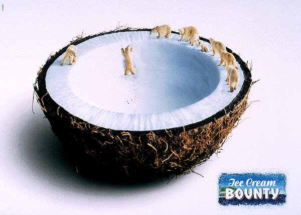 popsa biz лето мороженное дизайн реклама bounty-ice-cream-polar1