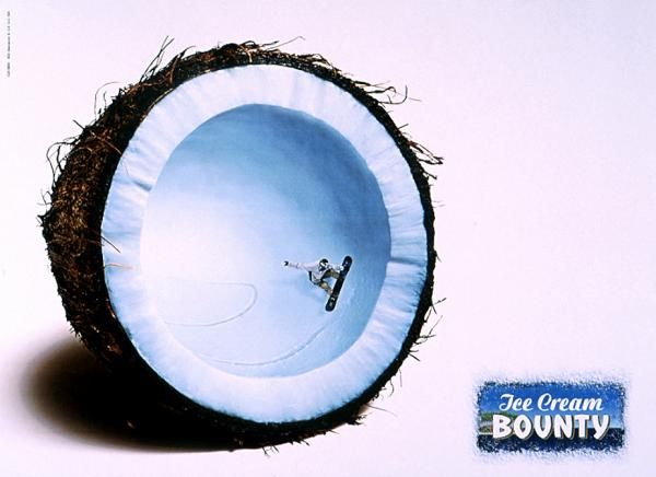 popsa biz лето мороженное дизайн реклама bounty-ice-cream