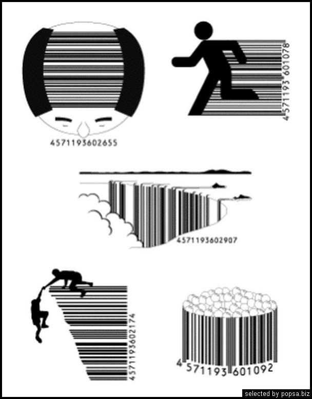 popsa.biz - креативные barcode - креативные баркоды штрих коды -44