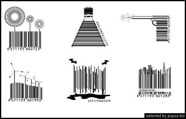 popsa.biz -  креативные баркоды штрих коды -45