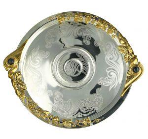 поднос серебрянная посуда Glasko